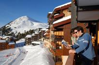 Ski à 2050 mètres d'altitude à Belle Plagne