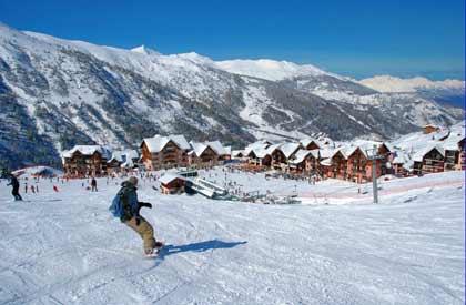 Vacances aux sports d'hiver dans une résidence au pied des pistes